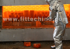Electric Furnance for Heat Treatment of Stainless Steel Pipe Fittings installed in FitTech Factory