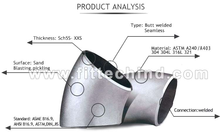 ASTM A403 WP347 Stainless Steel Pipe Fittings manufacturers in India