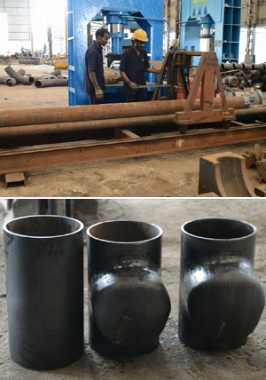 Original Pic of Alloy Steel Buttweld Fittings manufacturing in FitTech Factory
